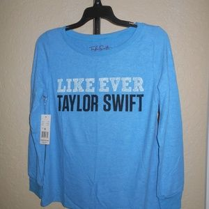"NEW! TAYLOR SWIFT ""like ever"" Sweater Top fuzzy S"
